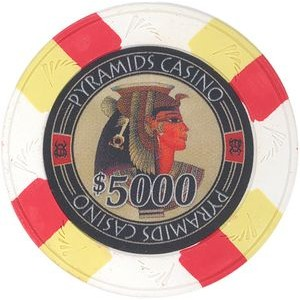 Closeout: White Pyramid's Casino 10 gram clay 5000$ poker chips