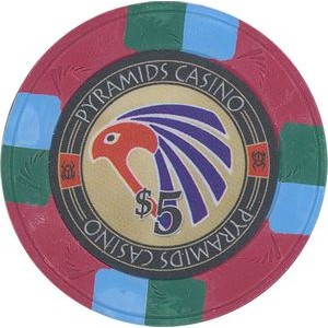 Closeout: Red Pyramid's Casino 10 gram clay 5$ poker chips