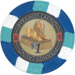 Closeout: Blue Pyramid's Casino 10 gram clay 1$ poker chips